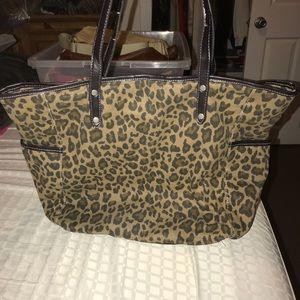 Merona Leopard Print Tote Bag